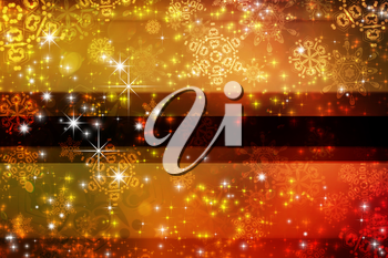 Winter illustration with decorative snowflakes, abstract background.
