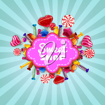 Sweet Shop Candy background set of different colors of candy, candy, sweets, chocolate candy, jelly beans